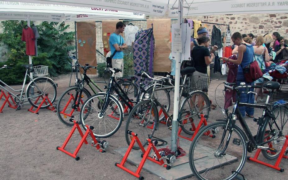 Fahrradkino im Moritzburggraben
