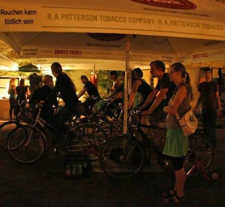 Fahrradkino in Halle im Graben der Moritzburg