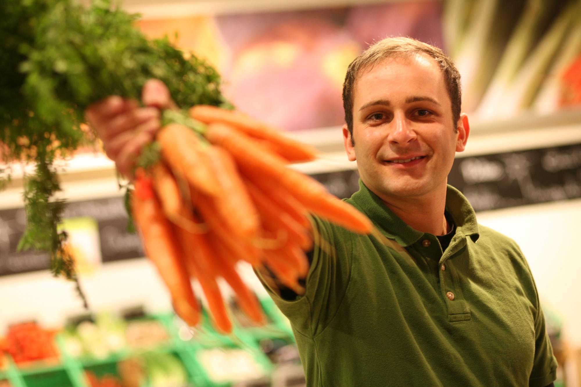 Herr Otto, Bio-Markt naturata in Trotha