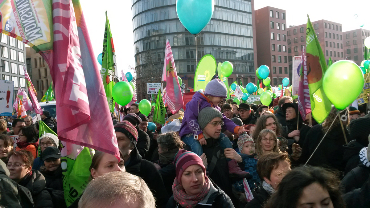 Wir haben es satt - Demo am 17.01.2015 in Berlin
