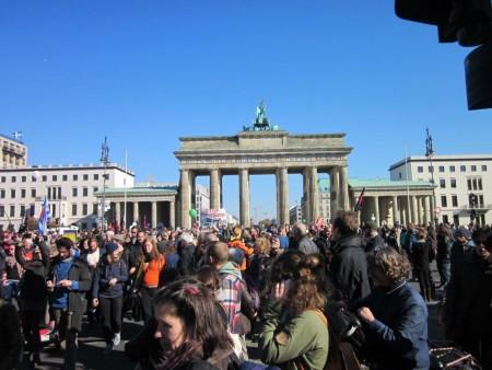TTIP-Demo am Brandenburger Tor
