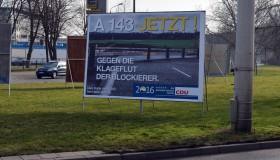 CDU-Wahlplakat zur Landtagswahl Sachsen-Anhalt 2016, aufgenommen in