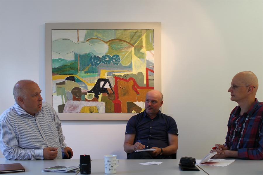 Dr. Andreas Schmidt (MdL), Jörg Wunderlich und Frank-Uwe Neis (Hallesche Störung)