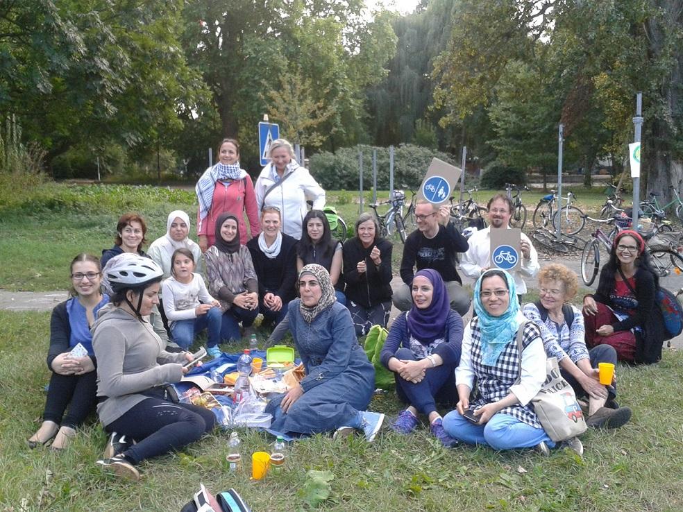 Radschulung mit Migrantinnen