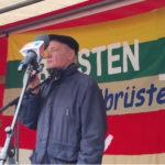 's ist Krieg! Eugen Drewermann auf dem Ostermarsch Berlin