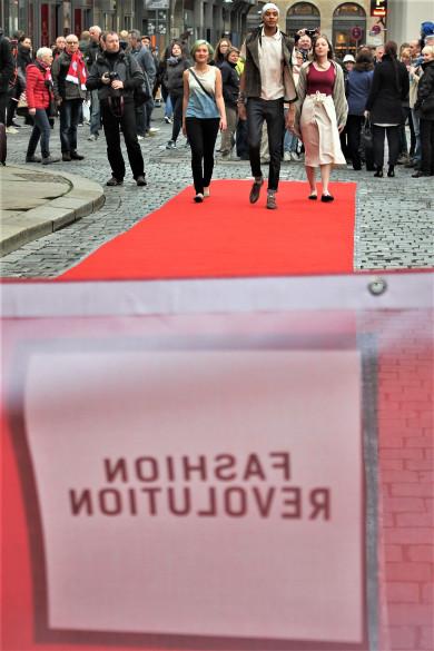 Modenschau auf der Fashion Revolution Week