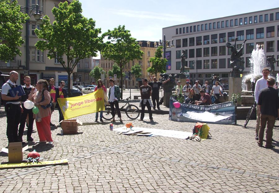 Global Marihuana March 2018 in Halle