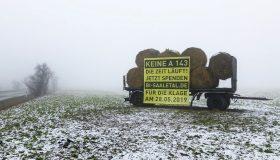 die BI Saaletal bittet um finanzielle Unterstützung für den Prozess gegen den Fertigbau der A 143