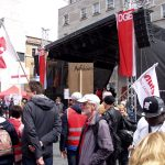1. Mai: Aufstehen-Bewegung setzte Zeichen auf dem Marktplatz von Halle