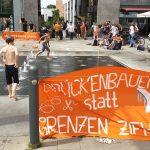 Orange am Steintor - Aktionstag gegen Kriminalisierung der Seenotrettung