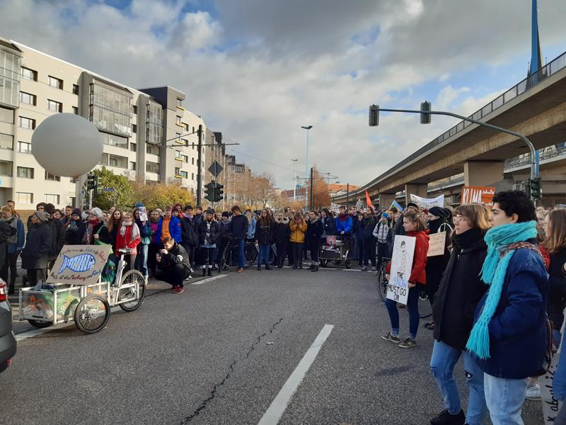 Demonstration von Fridays for Future am 29.11.2019 - Kundgebung am Glauchaer Platz