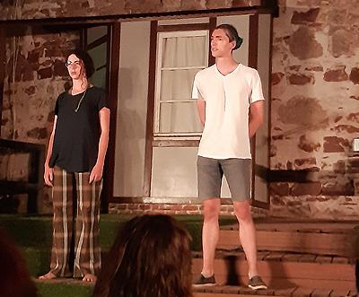 Improvisationstheater Stabile Seitenlage am 7. August 2020 auf der Offenen Bühne