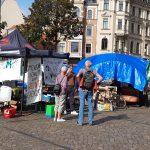 Klimacamp Ost auf dem Hallmarkt – Momentaufnahme und Gespräch