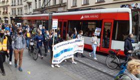 Demo zum Klimastreik in Halle