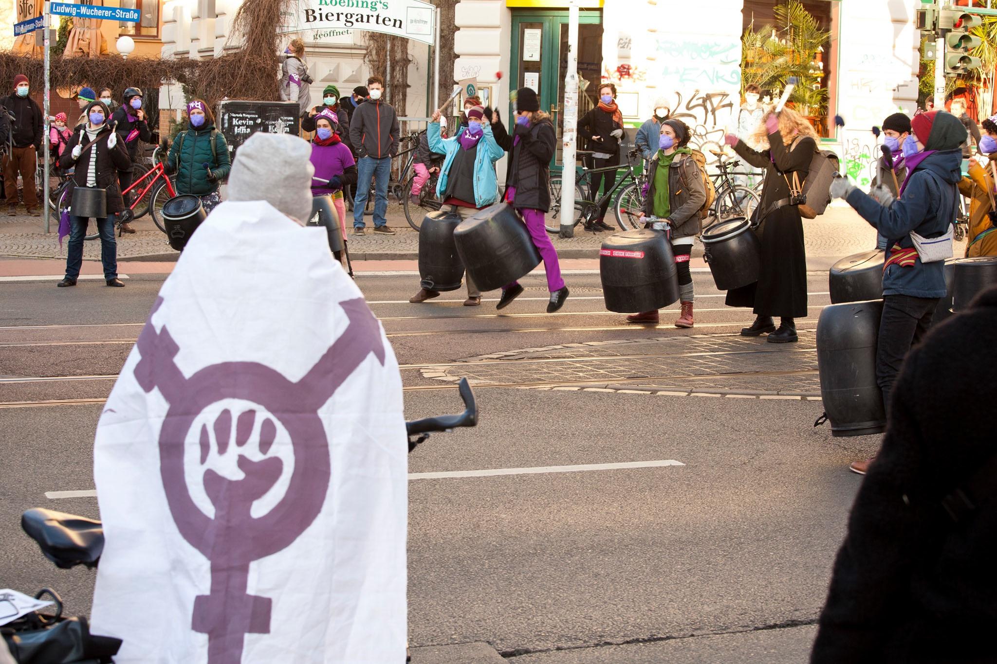 8. März 2021: Zum feministischen Kampftag kamen rund 650 Demonstrierende zusammen