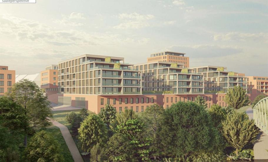 """Projekt """"Saalegarten"""" - Bild aus dem Entwurf des Architekturbüros Däschler Archtekten und Ingenieure"""